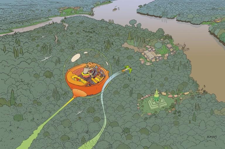 Moebius art from 'Voyage d' Hermes'.