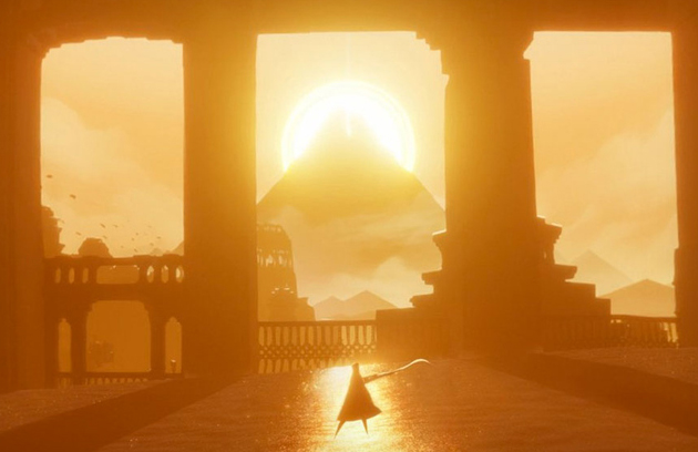 A screenshot of the 2012 video game Journey by Thatgamecompany