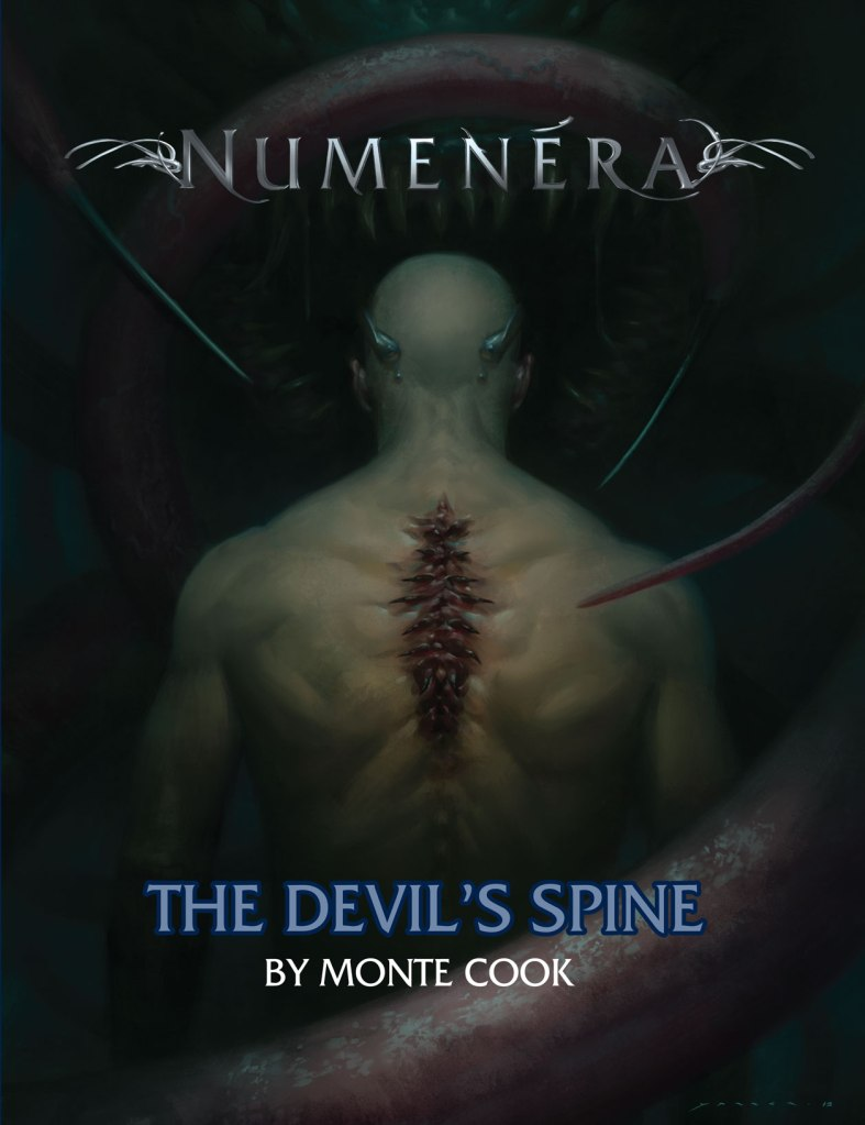 The cover to the Numenera RPG adventure The Devil's Spine