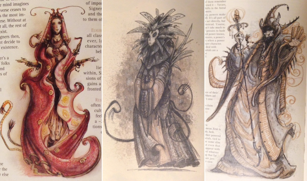 Some of Tony DiTerlizzi artwork from the Planescape Campaign Box Set.