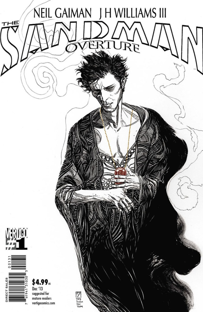 The awesome J.H. Williams III black and white variant cover I was able to track down.