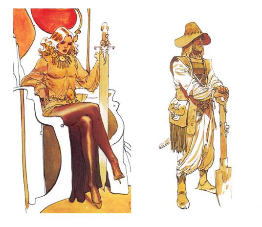 Moebius' character art for Jodorowsky's Dune (Art Source: www.AmazingStoriesmag.com)