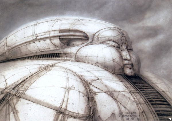 H.R. Giger's representation of House Harkonnen's palace for Jodrowsky's Dune (Source: www.museumsyndicate.com)