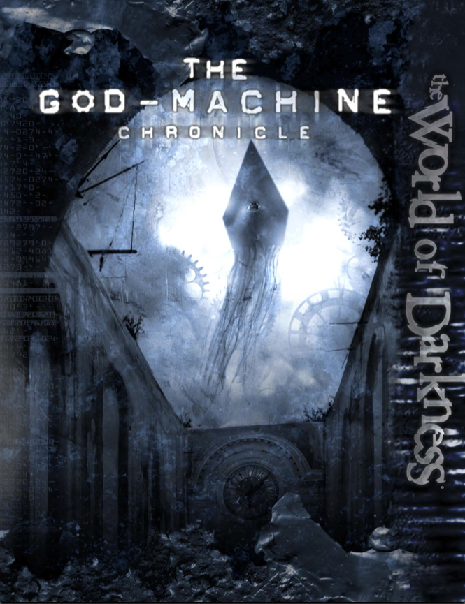 Cover of the God Machine Chronicle for the World of Darkness Role Playing Game.