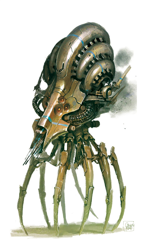 The Accelerator, one of the creatures found in The Ninth World Bestiary. (Source: www.montecookgames.com)