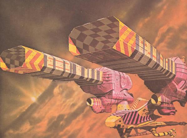 Art by Chris Foss for Jodorowsky's Dune (Art Source: www.duneinfo.com)