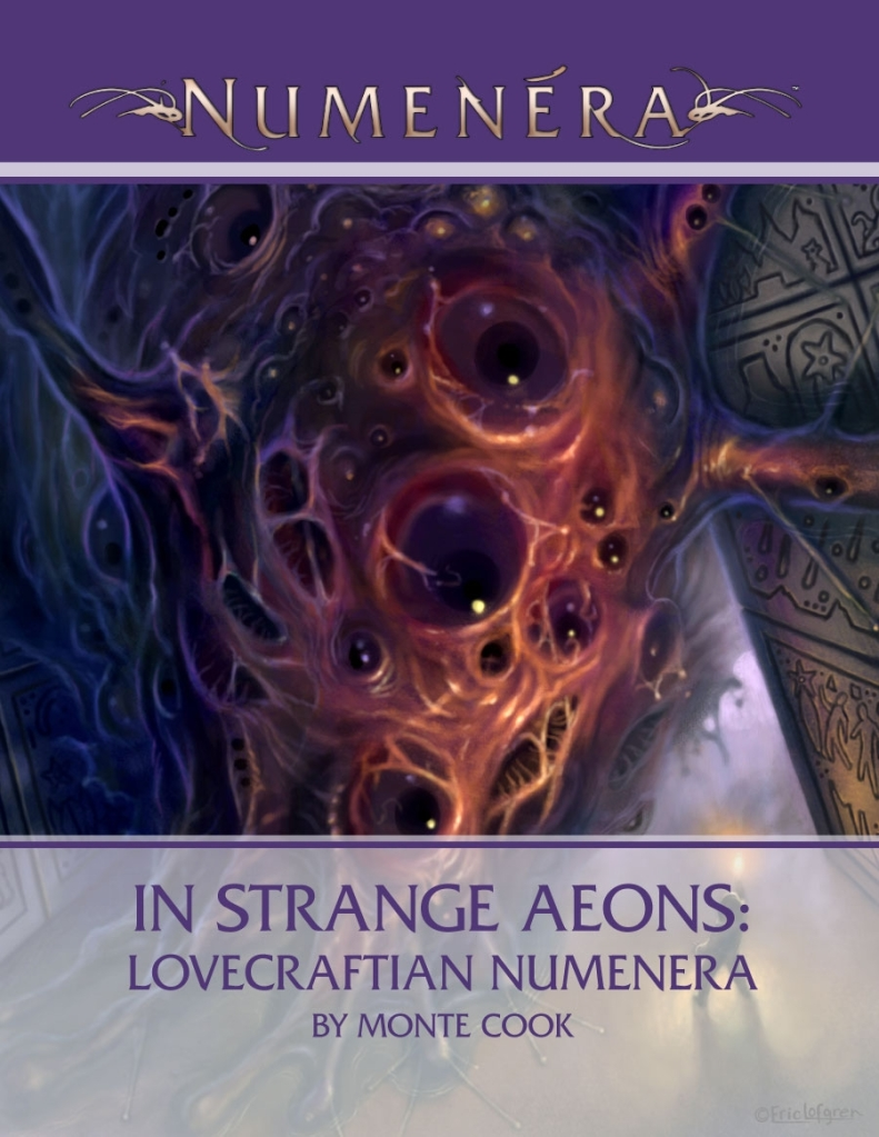 The Cover to In Strange Aeons: Lovecraftian Numenera