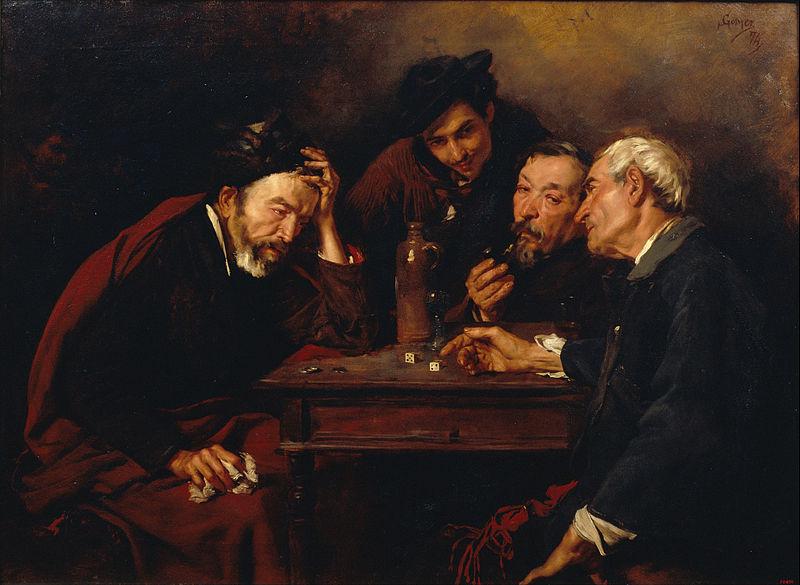 Els jugadors de daus by Spanish artist Simo Gomez (Art Source: http://tinyurl.com/myz6twg)