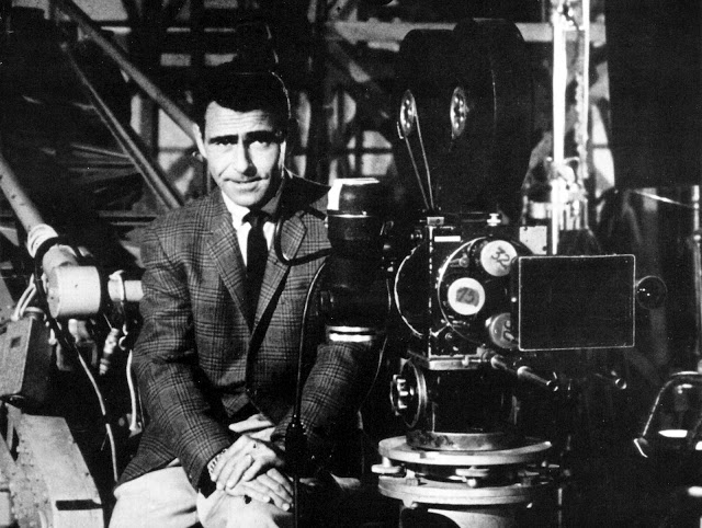 Rod Serling on the set of the Twilight Zone (Source: http://rod-serling.blogspot.com/)