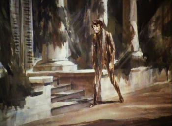 "Painting from the Night Gallery segment ""The Cemetery."" (Source: http://reflectionsonfilmandtelevision.blogspot.com/2012/08/the-cult-tv-faces-of-paintings.html)"
