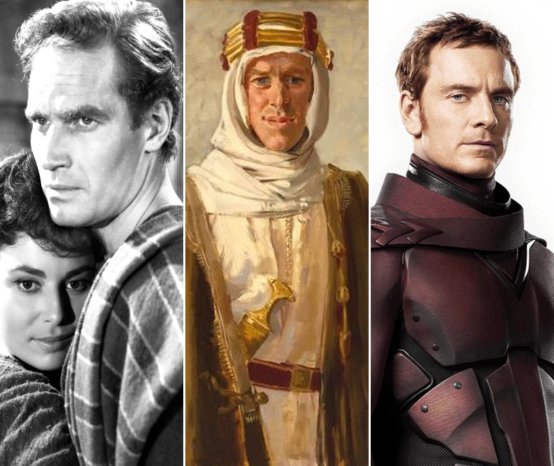 A few influences for Quazerdale include Judah Ben-Hur as played by Charlton Heston, Lawrence of Arabia and Magneto played by Michael Fassbender. (Sources: www.movpins.com, www.ratiocinativa.wordpress.com and www.geeksofdoom.com)