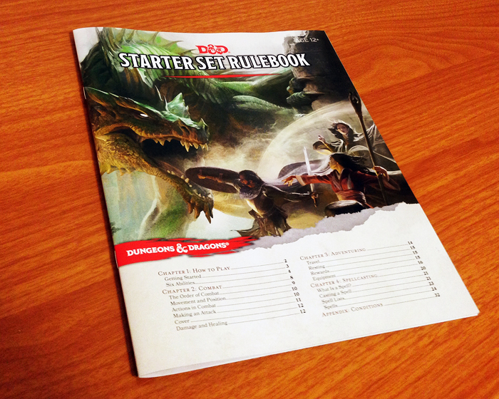 The rulebook book included in the Dungeons and Dragons Starter Set.
