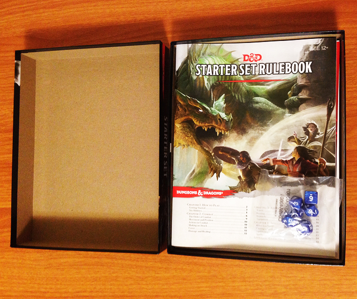 Dungeons and Dragons Starter Set open box.