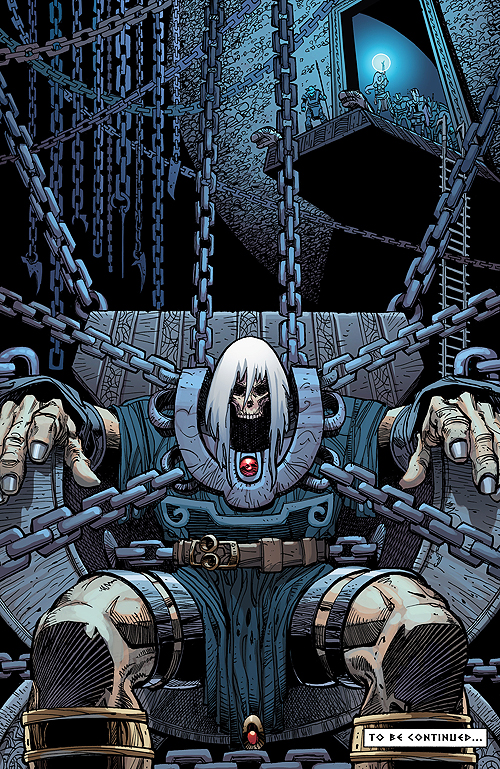 Brynja's target from Ragnarok #1 by Walt Simonson.