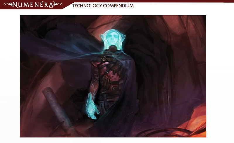 Art from Numenera Technology Compendium - Sir Arthour's Guide to Numenera produced by Monte Cook Games.