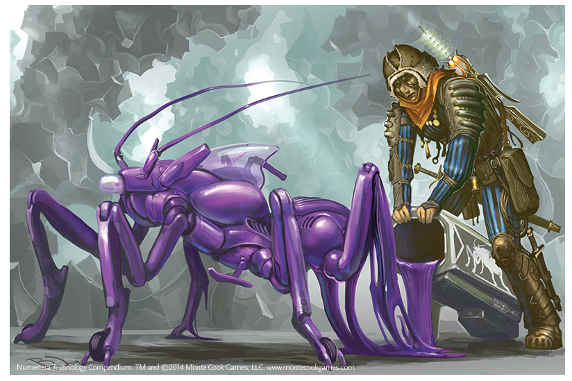 Art from Numenera Technology Compendium - Sir Arthour's Guide to the Numenera produced by Monte Cook Games. (Source: www.MonteCookGames.com)