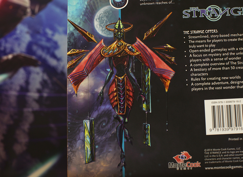 Art piece from the back cover of The Strange RPG.