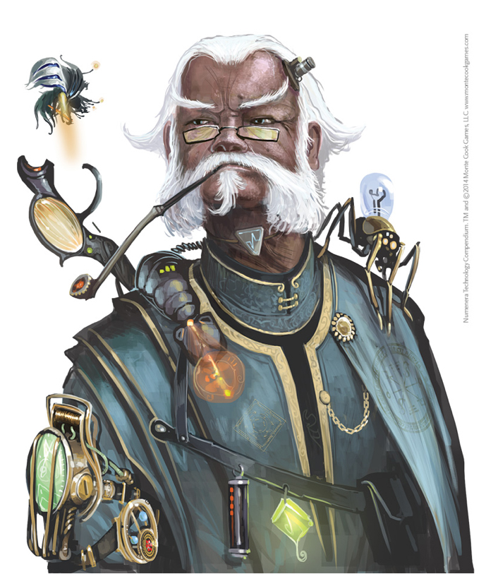 Sir Arthour from Numenera's Technology Compendium. (Source: www.montecookgames.com)