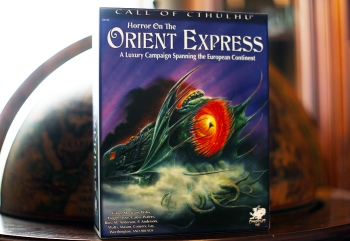 The Horror on the Orient Express boxed set by Chaosium.
